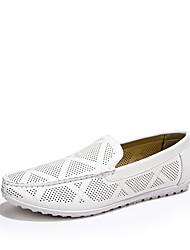 Синий / Коричневый / Белый Мужская обувь На каждый день Полиуретан Без застежки