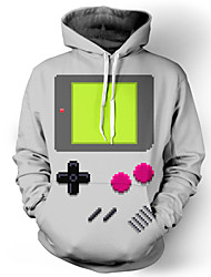 3D Hoodies Geometric Game Print Front Pocket Loose Fit Drawstring Hooded Long Sleeve Geeky Clothing For Male/Female