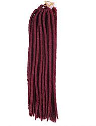 Synthetic Braiding Hair Synthetic Hair Extension Soft Dread Lock 24strands/pack Twist Hair Braids Mega hair