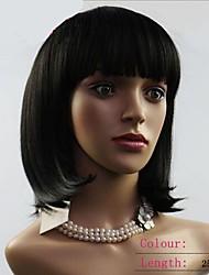 perruques synthétiques de mode bob cheveux blancs droite résistant à la chaleur perruques femmes