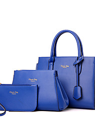 Women PU Formal / Casual / Office & Career / Shopping Tote Beige / Blue / Red / Black