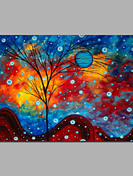 Modern Abstract Tree Art Canvas Painting For Home Decoration Stretchered Ready To Hang
