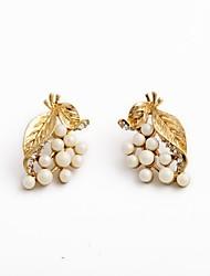 European Style Luxury Gem Geometric Earrrings Pearl Flower Stud Earrings for Women Fashion Jewelry Best Gift