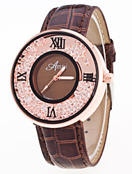 New Arrival Foreign Trade Popular Crystal Leather Watch For Women