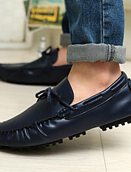 Men's Clogs & Mules Leather Casual Low Heel Others Black Blue Brown Walking