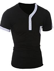 Tee-Shirt Décontracté / Sport Pour des hommes Manches Courtes Points Polka Coton
