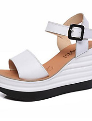 Women's Shoes PU Summer Wedges / Gladiator / Open Toe Sandals Outdoor / Office & Career / Dress Wedge Heel Others