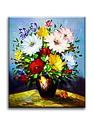 Hand Painted Oil Painting Floral with Frame