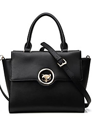 Women PU Formal Tote Black