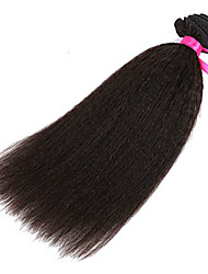 Evawigs Hair Kinky Straight Brazilian Virgin Hair Machine Made Wefts Unprocessed Natural Color