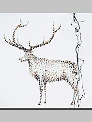 ручная роспись холст лося картина маслом современные абстрактные картины искусства стены с натянутой рамы готовы повесить