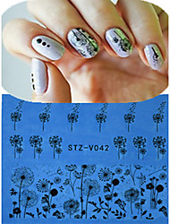 1pcs New Nail Art Lace Sticker Flower Dandelion Design Nail Beauty STZ-V041-045