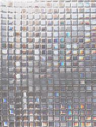 Contemporary No-Glue 3D Static Illuminative Plaid Pattern  ANTI-UV  Window Film