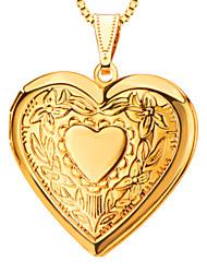 Colgantes Metal Heart Shape Dorado 50