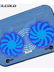 ultrafino dupla ventilador de arrefecimento pad de baixo ruído para laptop