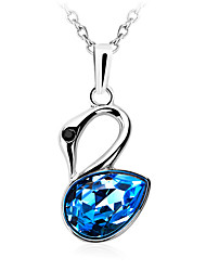 Necklace Pendant Necklaces / Pendants Jewelry Daily / Casual Fashion Crystal Yellow / Red / Blue 1pc Gift