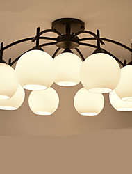 9 Chandelier ,  Modern/Contemporary Painting Feature for LED / Mini Style Metal Living Room / Bedroom / Dining Room