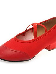 Для женщин-Кожа / Ткань-Не персонализируемая(Черный / Красный) -Балет / Модерн
