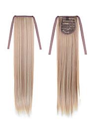 longue ligne droite queue 22inch 55cm 100g # 18/613 couleur mélangée cordon synthétique l'extension ponytails de queue de cheval de