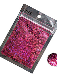 1pcs Nail Art Beautiful Color Rose Red Laser Glitter Powder Nail DIY Decoration L04