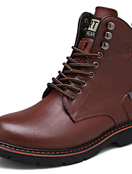Men's Shoes Nappa Leather Office & Career / Casual Boots Office & Career / Casual Chunky Party & Evening Black / Brown