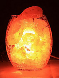 decorativo himalaia de cristal de sal europeu pequena lâmpada quarto criativo nocturna cintilante quentes