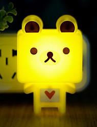 US Plug Pink Big Head Cartoon Light Control Sensor LED Night Light