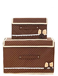 Storage Boxes / Storage Baskets / Storage Cabinets Nonwovens withFeature is Lidded , For Underwear / Cloth / Quilts