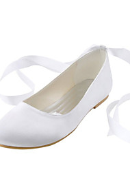 Women's Wedding Shoes Comfort / Round Toe Flats Wedding / Party & Evening / Dress White