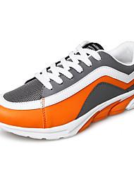 calçados masculinos casuais pu sapatilhas da forma de funcionamento ocasional planas salto outros verde / vermelho / laranja