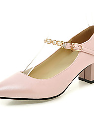 Women's Shoes Chunky Heel Heels / Pointed Toe Heels Wedding / Party & Evening / Dress Black / Pink / White