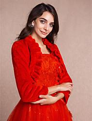 Coprispalle in pelliccia / Wraps Wedding Cappotti / Giacche Maniche lunghe Pelliccia ecologicaAvorio / Champagne / Rosa / Rosso rubino /