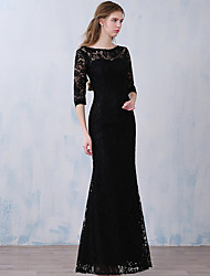 Formal Evening Dress Trumpet / Mermaid Scoop Ankle-length Lace with Lace