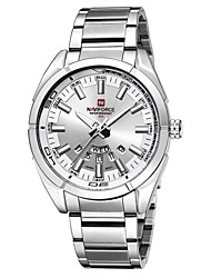 NAVIFORCE Men's Fashion Watch Quartz Japanese Quartz Calendar Water Resistant / Water Proof Stainless Steel Band Silver