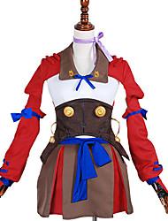Inspirado por Kabaneri de la fortaleza del hierro Nameless Actress Animé Disfraces de cosplay Trajes Cosplay Un Color RojoCapa / Abrigo /
