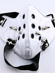 Mask Inspired by Tokyo Ghoul Ken Kaneki Anime Cosplay Accessories Mask White / Black Leather Male