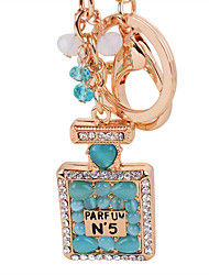 Perfume Bottle Opal Key Chain Ring High Quality Fashion Car Keychain Bag Charm