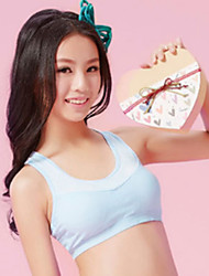 XLY Development Puberty Teenagers Girl's Comfortable Cotton Wireless Sports Bra Underwear. Item. Thin Cup Bra.Code 6013