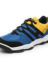 Femme-Sport-Bleu / Gris-Talon Plat-Confort-Sneakers-Tulle