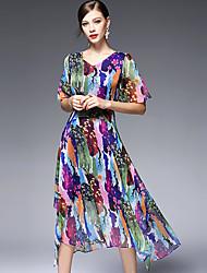 AFOLD® Женский V-образный вырез Короткие Midi Платья-5590