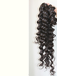 Unprocessed Deep Wave 7A Brazilian Remy Human Hair Extension Natural Color Weft Hair Weave Hair Bundles