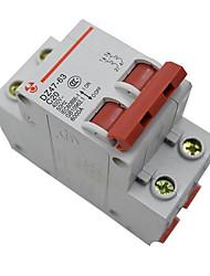 miniature disjoncteur 2p63a DZ47-63 air intérieur interrupteur basse tension protection de surcharge