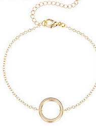Kimiing Gold/Silver Hollow Circle Chain Bracelet Jewelry Christmas Gifts