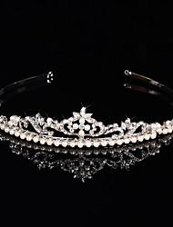 Women's Rhinestone / Crystal / Brass / Imitation Pearl Headpiece-Wedding / Special Occasion Tiaras 1 Piece