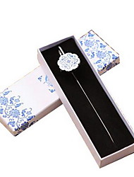 Retro Blue and White Porcelain Metal Bookmarks (no Box)