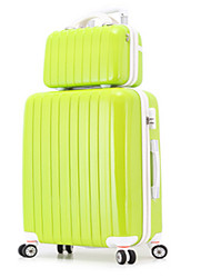 Unisex-Outdoor-PVC-Luggage-Pink / Light Green