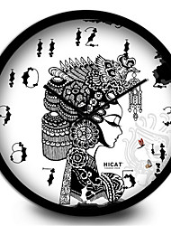 Creative And Elegant Antique Female Bedroom Quiet Home Furnishing Wall Clock