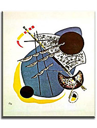 Pintados à mão Vida Imóvel Modern / Clássico / Tradicional / Realismo / Mediterrêneo / Pastoril / Estilo Europeu,1 Painel Tela