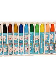 crayon Giz de Cera Vermelho / Preto / Azul / Amarelo / Púrpura / Laranja / Verde