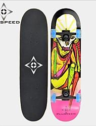 LED-Licht-Räder Skateboard (31 Zoll) 78,7 * 20cm ABEC-3 11mm9 Lagen Ahorndeck Hochgeschwindigkeitslager Räder